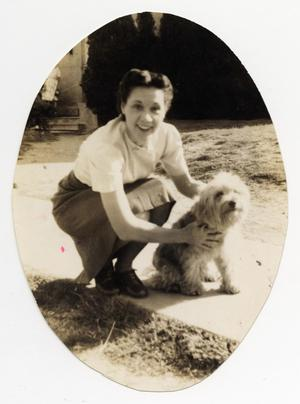 Primary view of object titled '[Photograph of Iris Graham with Dog]'.