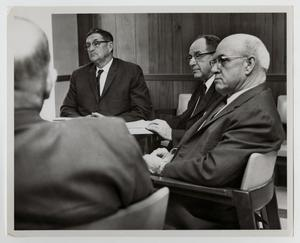 Primary view of object titled '[Photograph of McMurry College Trustees in a Meeting]'.