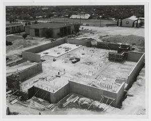 Primary view of object titled '[Wall Construction for the Campus Center]'.