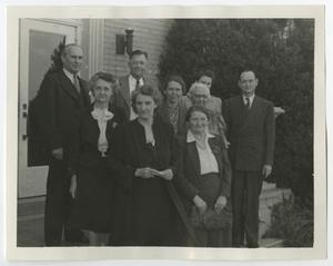 Primary view of object titled '[Photograph of McMurry Administrators]'.