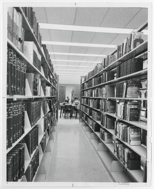 Primary view of object titled '[Photograph of Stacks in McMurry Library]'.
