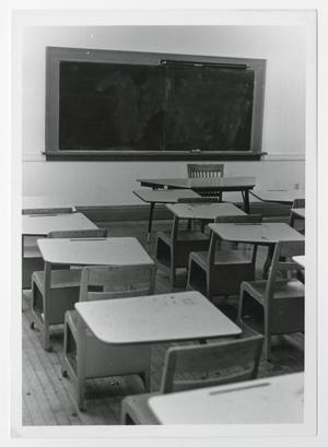 Primary view of object titled '[Photograph of Student Desks]'.