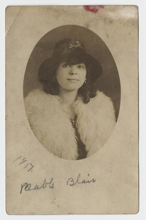 Primary view of object titled '[Postcard of Mable Blair]'.