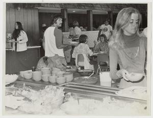 Primary view of object titled '[Photograph of Students in Iris Graham Memorial Dining Hall]'.