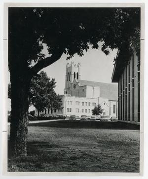 Primary view of object titled '[Photograph of Radford Auditorium]'.