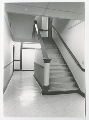 Primary view of object titled '[Photograph of Stairway in Old Main]'.