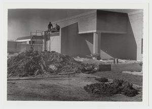 Primary view of object titled '[Photograph of Mabee Dining Hall Near Completion]'.