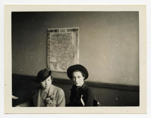 Primary view of object titled '[Photograph of Kathryn Simpson and Iris Graham]'.