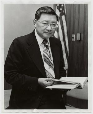 Primary view of object titled '[Photograph of Dr. Thomas Kim]'.