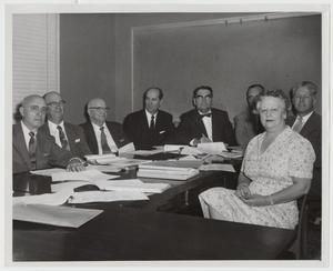 Primary view of object titled '[Photograph of 1957 Meeting of Texas Methodist College Presidents]'.