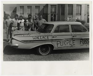 Primary view of object titled '[Photograph of Students Around a Car]'.