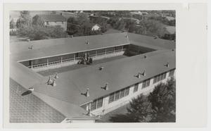 Primary view of object titled '[Photograph of Students in the Quadrangle]'.