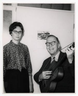 Primary view of object titled '[Photograph of Barbara Williams and Lloyd D. Huff]'.