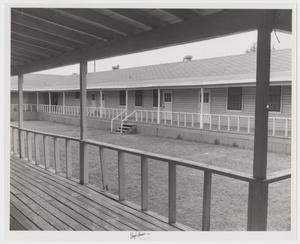 Primary view of object titled '[Photograph of Inner Courtyard of the Quadrangle]'.