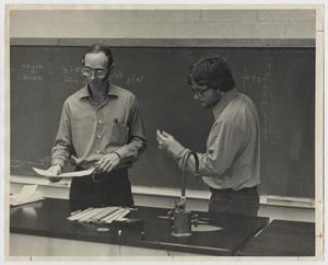 Primary view of object titled '[Photograph of Professor and Student]'.