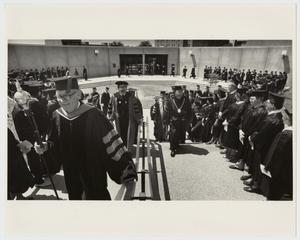 Primary view of object titled '[Photograph of McMurry Graduation Procession]'.