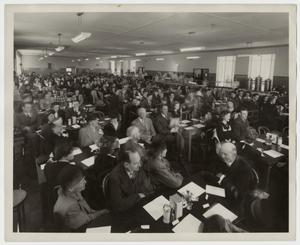 Primary view of object titled '[Photograph of Opening of Iris Graham Memorial Dining Hall]'.