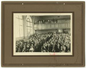 Primary view of object titled '[Photograph of McMurry College Opening Day Ceremonies]'.