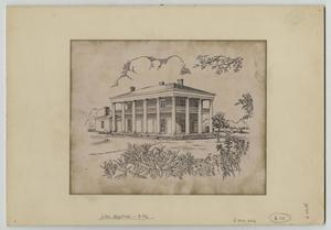 Primary view of object titled '[Print of Earle-Harrison House]'.