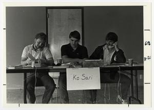 Primary view of object titled '[Photograph of Ko Sari Members at Telethon]'.