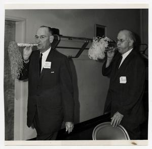 Primary view of object titled '[Photograph of W. B. McDaniel and Dr. George Steinman]'.