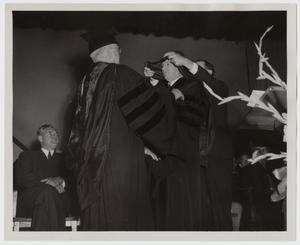 Primary view of object titled '[Photograph of McMurry Graduation]'.