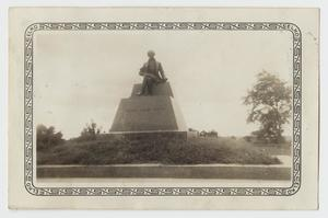 Primary view of object titled '[Photograph of Stephen Fuller Austin Statue]'.