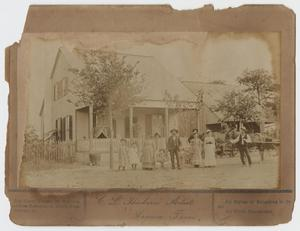 Primary view of object titled '[Photograph of Family and Home]'.