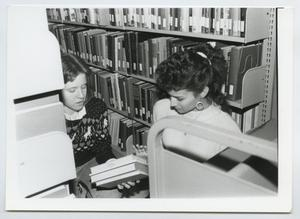 Primary view of object titled '[Photograph of McMurry Library Student Workers]'.