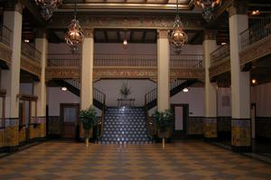 Cactus Hotel, lobby and grand staircase