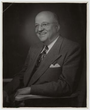 Primary view of object titled '[Portrait of McMurry President Dr. Harold Cooke]'.