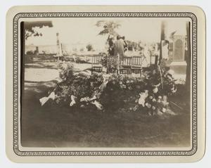 Primary view of object titled '[Photograph of the Grave of Hugh Barker]'.