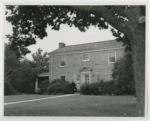 Primary view of object titled '[Photograph of President's Home on Campus]'.