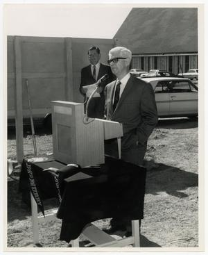 Primary view of object titled '[Photograph of Basil E. Ryan at Groundbreaking]'.
