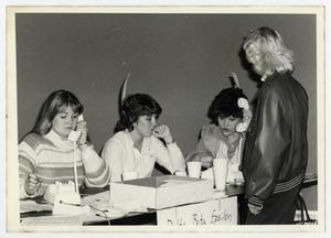 Primary view of object titled '[Photograph of Students on Telephone]'.
