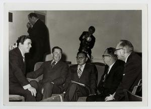 Primary view of object titled '[Photograph of Dr. Kim and Men]'.