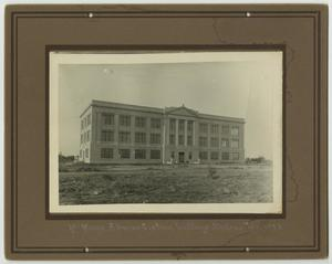 Primary view of object titled '[Photograph of McMurry Administration Building]'.