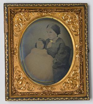 Primary view of object titled '[Portrait of a Woman and Baby]'.