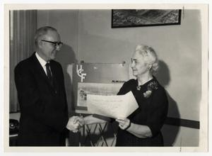 Primary view of object titled '[Photograph of Gordon Bennett and Selma Bishop]'.