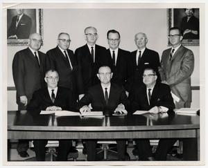 Primary view of object titled '[Photograph of United Methodist District Superintendents]'.