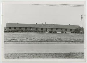 Primary view of object titled '[Photograph of Barracks Building]'.
