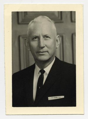 Primary view of object titled '[Photograph of Dr. Dallas D. Denison]'.