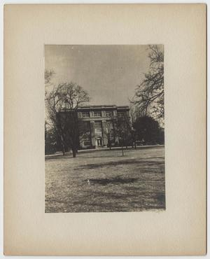 Primary view of object titled '[Photograph of the Carroll Library and Chapel at Baylor University]'.