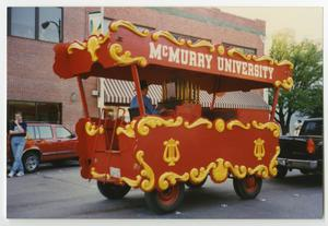 Primary view of object titled '[Photograph of McMurry Calliope in Parade]'.