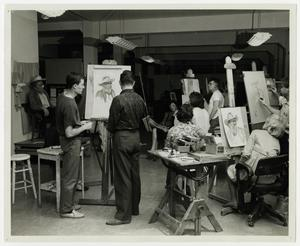 Primary view of object titled '[Photograph of Students in an Art Class]'.