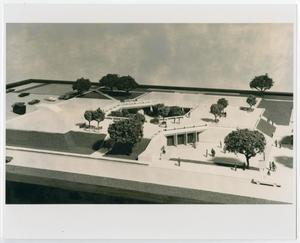 Primary view of object titled '[Photograph of Model of the Campus Center]'.