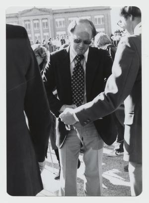 Primary view of object titled '[Photograph of Campus Center Ribbon Cutting]'.