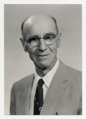 Primary view of object titled '[Photograph of Dr. Will Irvin]'.