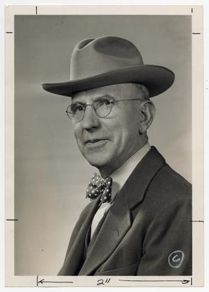 Primary view of object titled '[Photograph of J. M. Willson, Sr. in Hat]'.