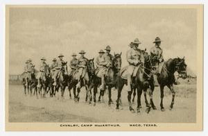 Primary view of object titled '[Postcard of Cavalry]'.